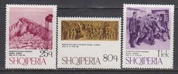 Albania 1974 - 100 Years Of Congress In Berat, Mi-Nr. 1738/40, MNH** - Albania