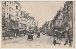 75 - PARIS - La Rue Saint Antoine - Commerces - Animée - La Bastille. - Arrondissement: 04