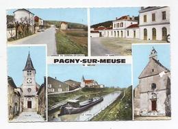 CPSM Pagny-sur-Meuse - Péniche - Autres Communes