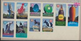 Neuseeland Mi.-Nr.: 1719-1728 Folienblatt (kompl.Ausg.) Postfrisch 1998 Wahrzeichen (9398193 - Neuseeland