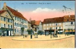 Dpt 67 Haguenau Place De La Mairie Patisserie Et Marchand De Chaussures Animee 1925 EV TBE Colorisee - France