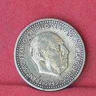 SPAIN 1 PESETA 1947-53 -    KM# 775 - (Nº33829) - [ 4] 1939-1947 : Gobierno Nacionalista