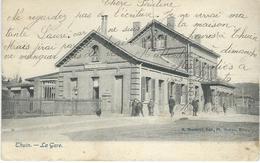 THUIN : La Gare - Cachet De La Poste 1907 - Thuin