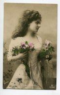 ARTISTE 1304 Maria GORDON Fleurs Roses Série 694/2 GG écrite 1909    Photographe GERLACH - Artisti