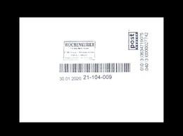 Bund / Post Modern [01129 Dresden]: Stempel 'Wochenkurier – 01099 Dresden, 2020' / Cancel 'Weekly Courier' - Privados & Locales