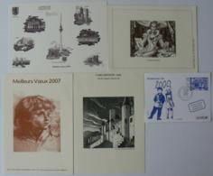 Lot De 5 Gravures De La Poste, Mozart, Carcassonne, Berlin, Decaris, An 2000, Très Bien. - Documentos Del Correo