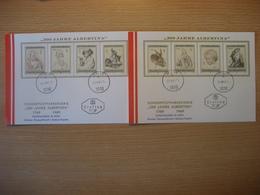 """Österreich- Ganzer Satz """"200 Jahre Albertina"""" FDC Auf 2 Karten - 1961-70 Briefe U. Dokumente"""