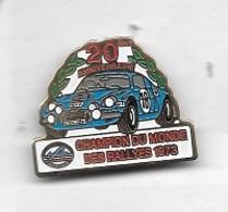 Pin's  Sport  Automobile  RENAULT ALPINE 20 è Anniversaire Champion Du Monde Des Rallyes 1973- Pointe Arrière Recollée - Rallye