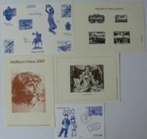 Lot De 5 Gravures De La Poste, Mozart, Luxembourg, Trésors En Taille Douce, Decaris, An 2000, Très Bien. - Documentos Del Correo