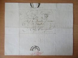 Lettre Imprimée Paris Vers Montpellier - Ministère De L'intérieur - Cachet Port-Dû P Dans Triangle Noir - 1822 - 1801-1848: Precursors XIX