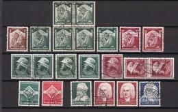 Deutsches Reich - 1935 - Michel Nr. 565/67+569/75 - Gest./Ungebr. - Used Stamps