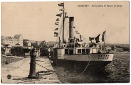 CPA 50 - CARTERET (Manche) - Débarcadère Du Bateau De Jersey - Carteret