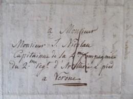 Lettre En Français - Naples Vers Vérone - Cachets Rouge NAPOLI + CàD Noir Verona - 1812 - 1801-1848: Precursors XIX