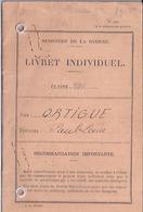 LIVRET INDIVIDUEL CLASSE 1951 - EXEMPTE 18 JANVIER 1951    MARSEILLE - Dokumente