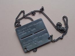 NAAMPLAAT Belgisch Leger 62/20754 / HERMAN J G C - 01 Sep 43 - A Kath ( Zie Foto's Voor Detail ) ! - Equipaggiamento