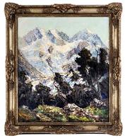 "Pippel Otto 1878 Lódz-Planegg""Piz Roseg""(Kunst Öl Gemälde Art Painting Mountains Berge Graubünden Schweiz Bayern  Poland - Huiles"