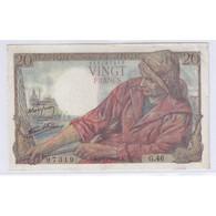 FAY 13/4 - 20 FRANCS PECHEUR - 05.11.1942 - SUPERBE - PICK 100 - - 1871-1952 Anciens Francs Circulés Au XXème