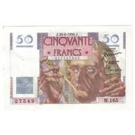 FAY 20/16 - 50 FRANCS LE VERRIER - 24/08/1950 - SPLENDIDE - TACHE - PICK 127 - - 1871-1952 Anciens Francs Circulés Au XXème