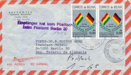 BOLIVIA / LA PAZ -  1987  , Besuch Von Präsident Richard Von Weizsäcker / DE  -  Luftpost Nach Berlin - Bolivien