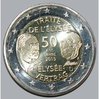 ALLEMAGNE - 2 EURO 2013 - TRAITE DE L'ELYSEE - ATELIER INDETERMINE- SUP/FDC - - Germany