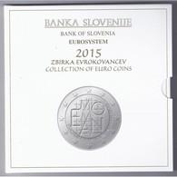 SLOVENIE - COFFRET EURO BRILLANT UNIVERSEL 2015 - 10 PIECES (8.88 Euros) - - Slovénie