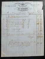 60338 - Facture G.Gribi Fabrication De Limes Valorbes 13.03.1873 - Suisse