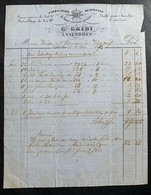 60338 - Facture G.Gribi Fabrication De Limes Valorbes 13.03.1873 - Switzerland