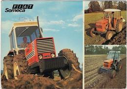 80 Villers-bocage Tracteur   Poulaiville  Fiat Someca  Et Voir Verso Pour Publicite - Autres Communes