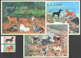 L1206 SIERRA LEONE DOGS & CATS FAUNA PETS DOMESTIC ANIMALS !!! 3KB+1SET MNH - Dogs