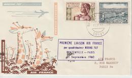Congo 1960 Première Liaison Air France Brazzaville Paris - Congo - Brazzaville