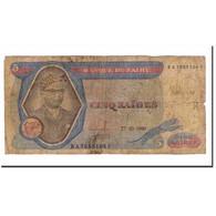 Billet, Zaïre, 5 Zaïres, 1980, 1980-10-27, KM:22b, TB+ - Zaïre