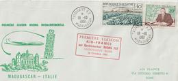 Madagascar 1961 Première Liaison Air France Tananarive Rome - Madagascar (1960-...)