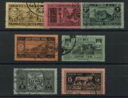 Syrie (1925) Taxe 32 A 38 (o) - Syrien (1919-1945)