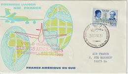 Argentine 1960 Première Liaison Air France Buenos Aires Paris - Cartas