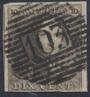 """épaulette - N°1 Bien Margé Obl P103 """"St-Ghislain"""". Superbe ! - 1849 Epaulettes"""