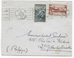 1939 - ENVELOPPE De PARIS => ST GILLES LES BRUXELLES (BELGIQUE) - Francia
