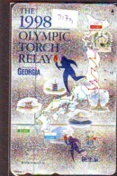Telecarte Japon *   COCA COLA * (2173) OLYMPIC TORCH * SPORT * Japan Phonecard * TELEFONKARTE * - Advertising
