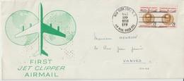 Etats Unis 1958 Première Liaison Jet Clipper New York Paris - 2c. 1941-1960 Cartas