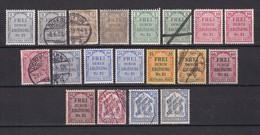 Deutsches Reich - Dienstmarken - 1903/05 - Michel Nr.1/8+12/13 - Ungebr./Postfrisch/Gest. - Deutschland