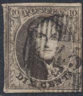 Médaillon - N°6 Bien Margé Obl D45 Overpelt / Werbomont. A Examiner, Belle Frappe - 1851-1857 Médaillons (6/8)