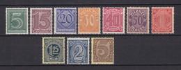 Deutsches Reich - Dienstmarken - 1920 - Michel Nr. 23+25/33 - Postfrisch - 41 Euro - Ungebraucht