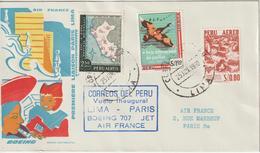 Pérou 1960 Première Liaison Air France Lima Paris - Pérou