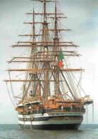 Bateaux - Voiliers - L'Amerigo Vespucci - Navire Ecole Italien - Voir Scans Recto-Verso - Voiliers