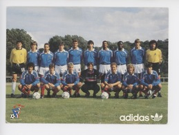Equipe France Football Septembre 1987 : Martini Stopyra Passi Fernandez Leroux Bijotat Touré Boli Vogel BatsAyache Poull - Football