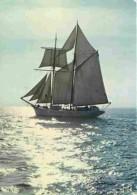 Bateaux - Voiliers - Bretagne - Une Barque Aux Voiles Blanches - Court Là-bas - Flamme Postale De La Baule - Voir Scans - Voiliers