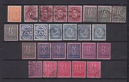 Deutsches Reich - Dienstmarken - 1921/22 - Michel Nr. 65/74 - Gest./Ungebr./Postfrisch - 60 Euro - Germany