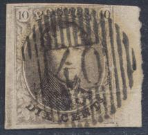"Médaillon - N°10A Margé + BDF Obl D40 ""Mont-St-Guibert"". Luxe ! - 1858-1862 Medallions (9/12)"
