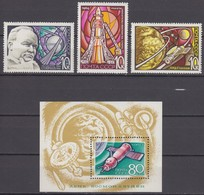 Russia, USSR 22.01.1969 Mi # 3605-07 Bl 55, Cosmonautics Day, MNH OG - Nuevos