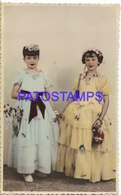129949 REAL PHOTO COSTUMES DESGUISE CARNIVAL TWO OLD LADY NO POSTAL POSTCARD - Photographs