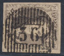 """Médaillon - N°6 Bien Margé Obl D36 """"Somerghem / Anthée"""", à Déterminer. Superbe Centrage! - 1851-1857 Médaillons (6/8)"""